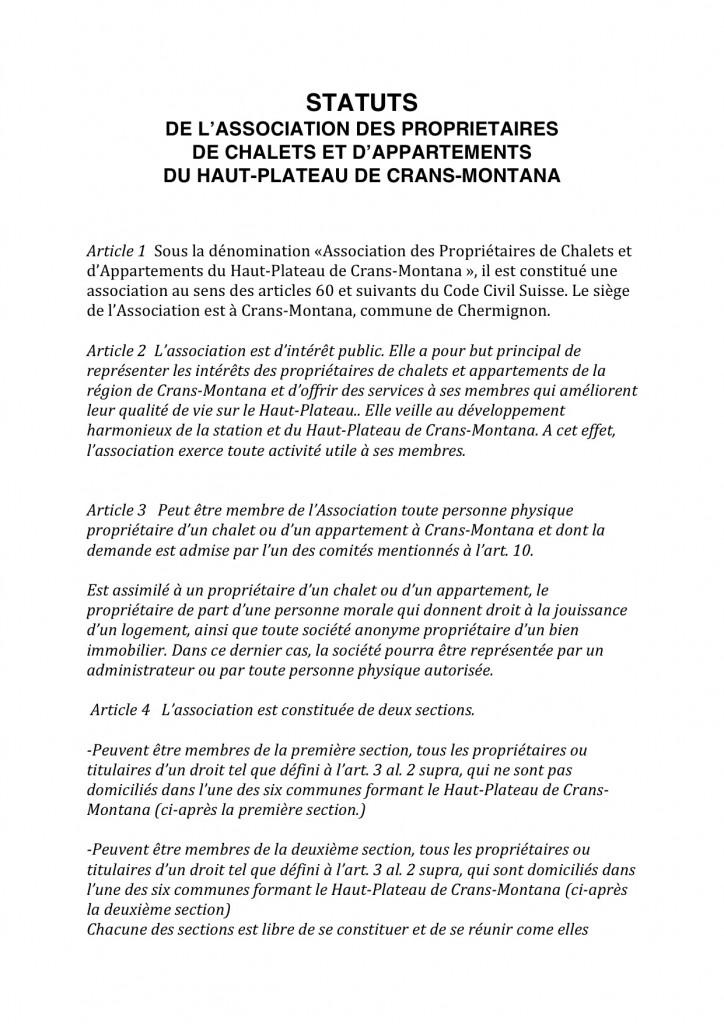 Statuts nouveaux statuts decembre 2013 - page 1